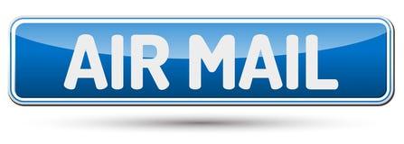ΤΑΧΥΔΡΟΜΕΊΟ AIR - αφηρημένο όμορφο κουμπί με το κείμενο Στοκ φωτογραφία με δικαίωμα ελεύθερης χρήσης
