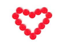 ταχυδρομημένη καρδιά όψη τσιπ Στοκ Φωτογραφίες
