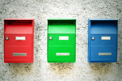 ταχυδρομικές θυρίδες τρία Στοκ Εικόνες
