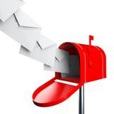 Ταχυδρομική θυρίδα με τις επιστολές διανυσματική απεικόνιση