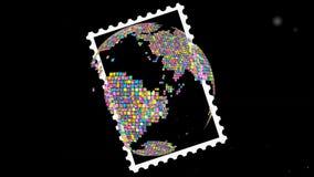 Ταχυδρομική σφαίρα γήινου σχεδίου γραμματοσήμων ελεύθερη απεικόνιση δικαιώματος