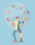 Ταχυδακτυλουργία ισορροπίας ζωής διανυσματική απεικόνιση