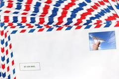 Ταχυδρομείο Μετα υπόβαθρο φακέλων Στοκ εικόνες με δικαίωμα ελεύθερης χρήσης