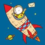 Ταχυδρομείο πυραύλων ελεύθερη απεικόνιση δικαιώματος