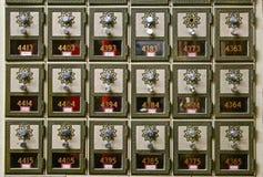 Ταχυδρομικές θυρίδες παλιού σχολείου Στοκ Εικόνες