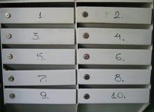 Ταχυδρομικές θυρίδες στη πολυκατοικία Στοκ φωτογραφία με δικαίωμα ελεύθερης χρήσης