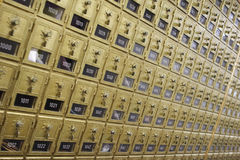 ταχυδρομικές θυρίδες τ&alp Στοκ Εικόνες