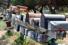Ταχυδρομικές θυρίδες Στοκ εικόνα με δικαίωμα ελεύθερης χρήσης