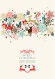 Ταχυδρομική διαφάνεια καρτών Χαρούμενα Χριστούγεννας απεικόνιση αποθεμάτων