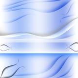 Ταχυδρομική σύσταση στρωμάτων καρτών μπλε Στοκ Εικόνα