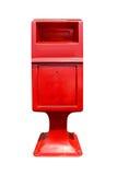 Ταχυδρομικό κουτί που απομονώνεται κόκκινο Στοκ Εικόνες