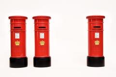 Ταχυδρομικό κουτί του Λονδίνου στο άσπρο υπόβαθρο Στοκ Φωτογραφίες