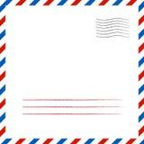 ταχυδρομικό υπόβαθρο επίσης corel σύρετε το διάνυσμα απεικόνισης Στοκ φωτογραφία με δικαίωμα ελεύθερης χρήσης