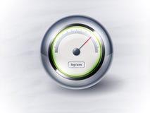 Ταχύμετρο ή ρολόι εικονιδίων. EPS10 απεικόνιση αποθεμάτων