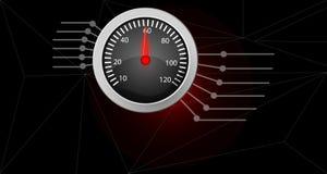 Ταχύμετρο για τις πληροφορίες Σύγχρονο υπόβαθρο πληροφοριών απεικόνιση αποθεμάτων