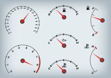 Ταχύμετρο για το αυτοκίνητο Μετρητής και ταχύμετρο καυσίμων απεικόνιση αποθεμάτων
