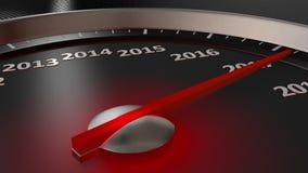 Ταχύμετρο καλή χρονιά 2020 διανυσματική απεικόνιση