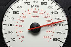 Ταχύμετρο 125 MPH Στοκ φωτογραφία με δικαίωμα ελεύθερης χρήσης
