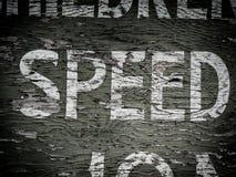 ταχύτητα σημαδιών Στοκ εικόνα με δικαίωμα ελεύθερης χρήσης