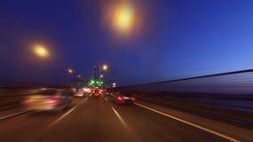 Ταχύ Drive 25 de Abril Bridge στη Λισσαβώνα απόθεμα βίντεο