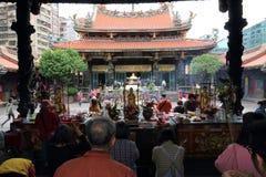 Ταϊβάν: Ναός Lungshan Στοκ εικόνες με δικαίωμα ελεύθερης χρήσης