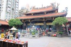 Ταϊβάν: Ναός Lungshan Στοκ Εικόνες