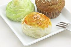 Ταϊβανικά Mooncake και κέικ μπανανών Στοκ Εικόνες