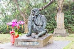 ΤΑΪΒΑΝ - 15 Ιανουαρίου 2016: Άγαλμα Hatta Yoichi στο φράγμα Wushantou ένα FA Στοκ Εικόνα