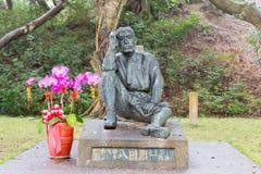 ΤΑΪΒΑΝ - 15 Ιανουαρίου 2016: Άγαλμα Hatta Yoichi στο φράγμα Wushantou ένα FA Στοκ Εικόνες