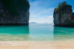 Ταϊλάνδη, άποψη από την παραλία στον κόλπο της Hong στοκ φωτογραφία με δικαίωμα ελεύθερης χρήσης