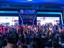ΤΑΪΛΑΝΔΗ - 4 Νοεμβρίου 2017: Ο διαγωνισμός κοστουμιών Cosplay στο παιχνίδι της Ταϊλάνδης παρουσιάζει μεγάλο φεστιβάλ το 2017 στη  στοκ εικόνες