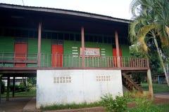 ΤΑΪΛΑΝΔΗ ΣΤΙΣ 4 ΔΕΚΕΜΒΡΊΟΥ 2016  ο όρος του σχολείου στην επαρχία Sakon Nakhon του Βορρά - ανατολικού της χώρας Ταϊλάνδη Στοκ Εικόνα