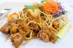 Ταϊλανδικά διάσημα τρόφιμα οδών μαξιλαριών Στοκ Φωτογραφίες