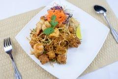 Ταϊλανδικά διάσημα τρόφιμα οδών μαξιλαριών Στοκ Φωτογραφία