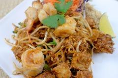 Ταϊλανδικά διάσημα τρόφιμα οδών μαξιλαριών Στοκ Εικόνα