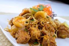 Ταϊλανδικά διάσημα τρόφιμα οδών μαξιλαριών Στοκ Εικόνες