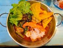 Ταϊλανδικά πικάντικα τρόφιμα, Tom yum kung στοκ φωτογραφίες με δικαίωμα ελεύθερης χρήσης