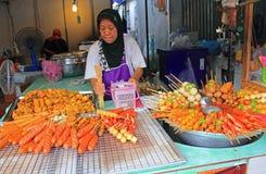 Ταϊλανδικά τρόφιμα για την πώληση, Ταϊλάνδη Στοκ εικόνα με δικαίωμα ελεύθερης χρήσης