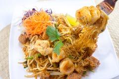 Ταϊλανδικά ταϊλανδικά τρόφιμα μαξιλαριών αρχικά Στοκ φωτογραφία με δικαίωμα ελεύθερης χρήσης