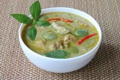 Ταϊλανδικά τρόφιμα, πράσινο κοτόπουλο κάρρυ στοκ φωτογραφία με δικαίωμα ελεύθερης χρήσης