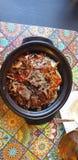Ταϊλανδικά τρόφιμα στο timisoara Ρουμανία στο bistro του Ανόι - βόειο κρέας κα στοκ φωτογραφία με δικαίωμα ελεύθερης χρήσης