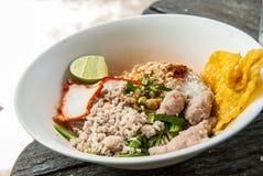 Ταϊλανδικά noodle- ύφους noodles Sukhothai Στοκ Εικόνα