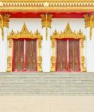 Ταϊλανδικές πόρτες ύφους ναών σε Khon Kaen Ταϊλάνδη Στοκ φωτογραφία με δικαίωμα ελεύθερης χρήσης