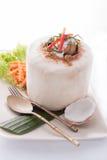 Ταϊλανδική βρασμένη στον ατμό τρόφιμα κρέμα θαλασσινών Mok Ho, θαλασσινά κάρρυ μικτά Στοκ Εικόνα
