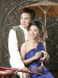 ταϊλανδική γυναίκα μεταξ&iot Στοκ Εικόνα