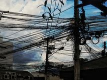 Ταϊλανδική ηλεκτρική ενέργεια στοκ φωτογραφία με δικαίωμα ελεύθερης χρήσης
