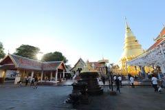 Ταϊλανδική παγόδα σε Lamphun Ταϊλάνδη στοκ εικόνες
