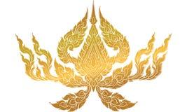 Ταϊλανδική παραδοσιακή δερματοστιξία, ταϊλανδική παραδοσιακή ζωγραφική στο ναό, διάνυσμα ελεύθερη απεικόνιση δικαιώματος