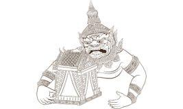 Ταϊλανδική παραδοσιακή δερματοστιξία, ταϊλανδικό yantra ελεύθερη απεικόνιση δικαιώματος