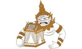Ταϊλανδική παραδοσιακή δερματοστιξία, ταϊλανδικό yantra απεικόνιση αποθεμάτων